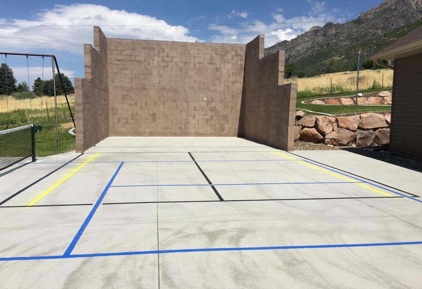 Diy Projects Building An Outdoor Racquetball Court Outdoor Racquetball Backyard