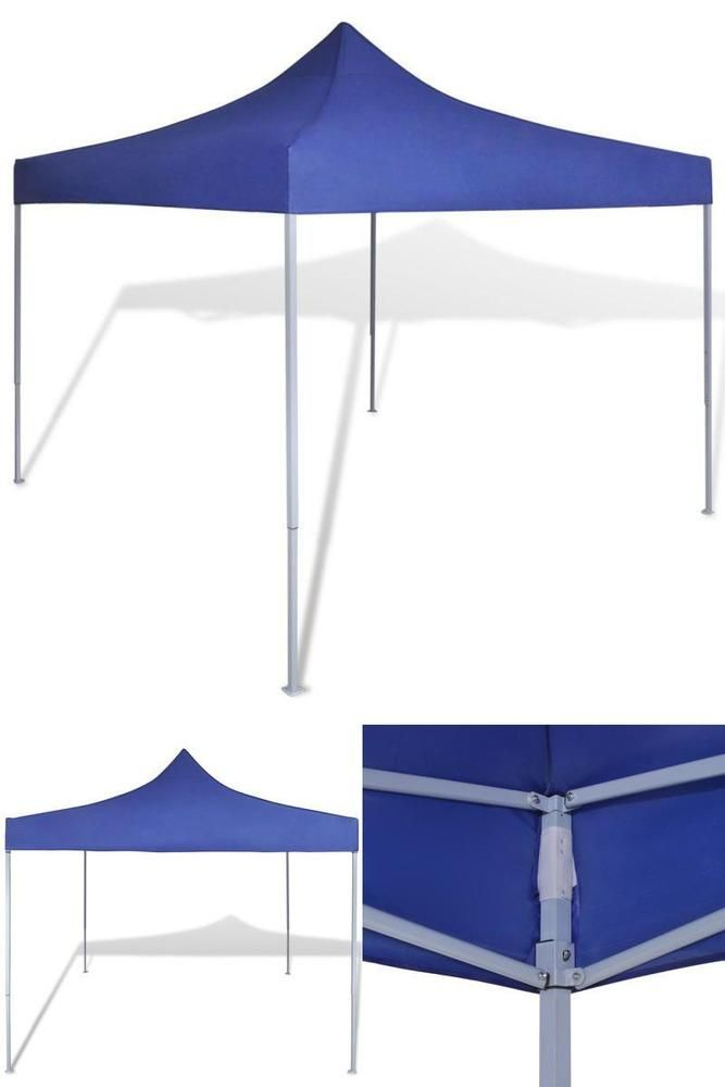 Folding Party Tent Outdoor Garden Camping Canopy Gazebo Sun Shade Decor Blue Gazebos Canopies Awnings Pinterest Camping Canopy Outdoor Gardens And
