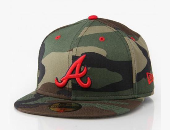 New Era X Mlb Atlanta Braves Camo Pop 59fifty Fitted Baseball Cap Fitted Baseball Caps Atlanta Braves Cap