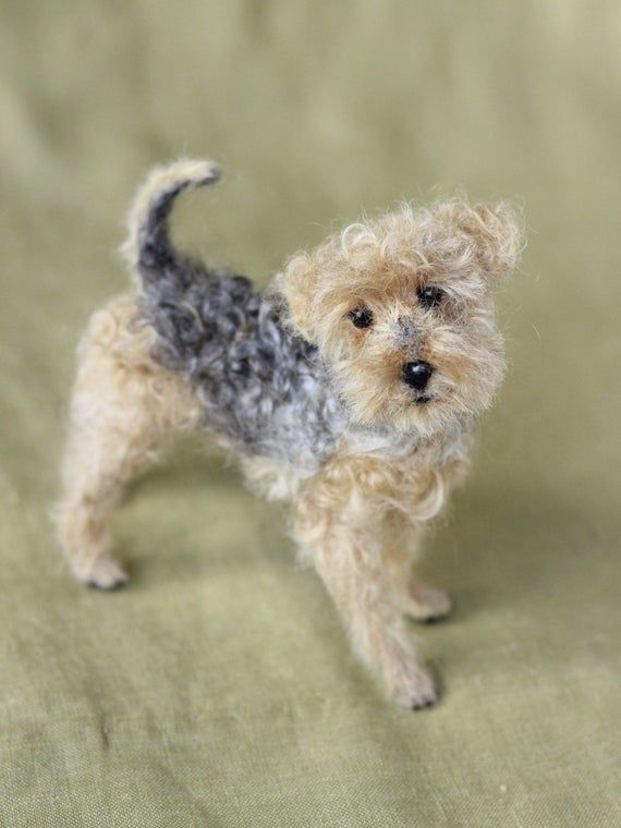 Made to order custom needle felted dog, memorial, portrait, wool sculpture, Terrier or your dog's br #needlefeltedanimals