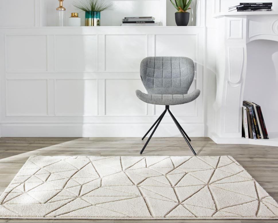 Tapis Design Blanc 100 X 150 Cm Tapis Design Decoration Maison Tapis