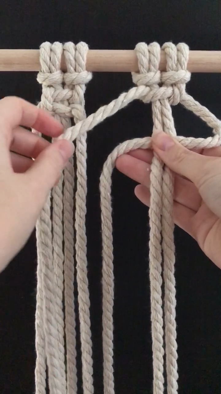 Photo of DIY macrame – How to tie a square knot – Easy beginner knot video tutorials. Step by step macrame