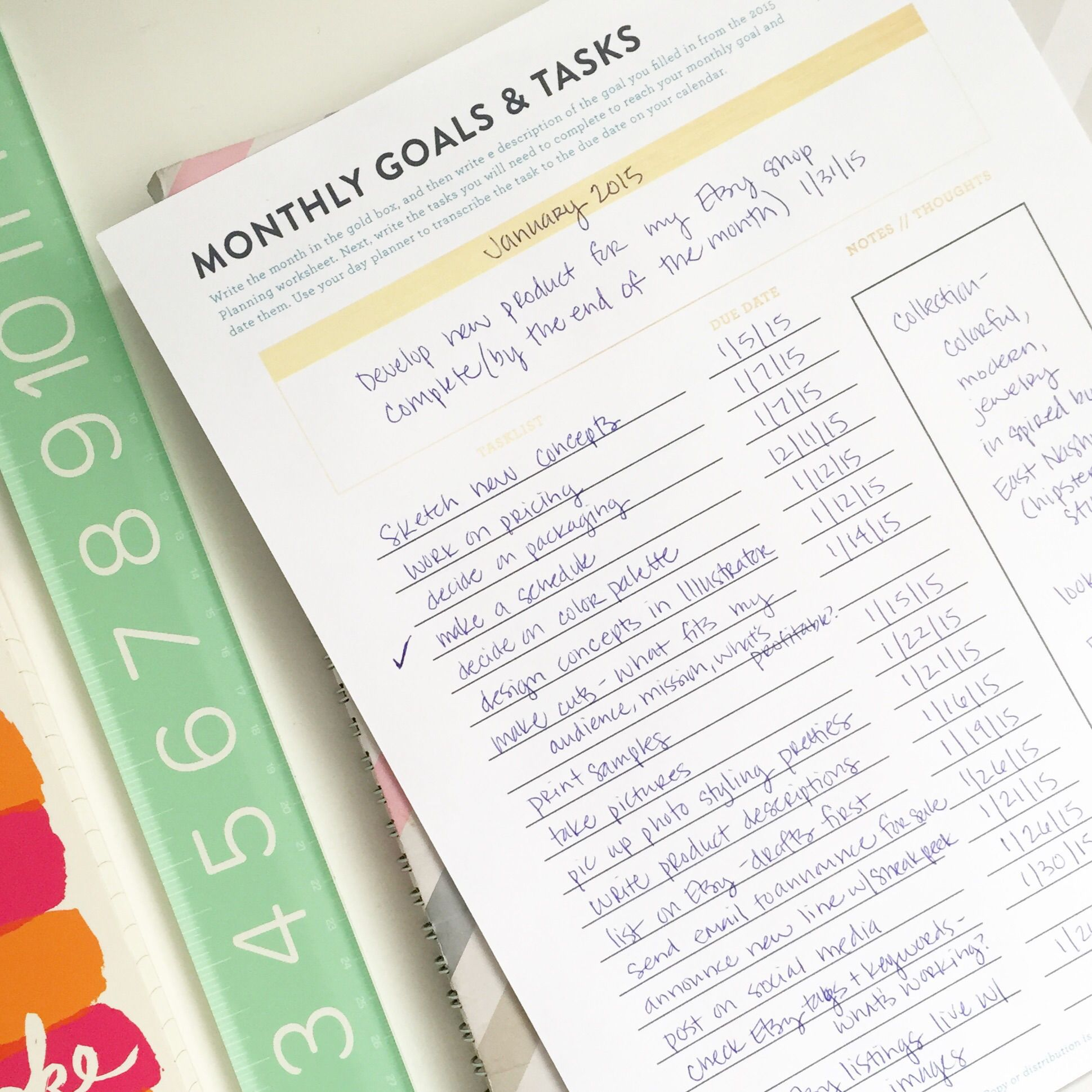 Free Monthly Goal Planning Printable With Images