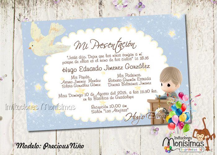 invitaciones de presentacion 3 a u00f1os