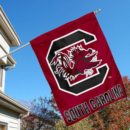 College Flags and Banners Co USC Gamecocks Double Sided House Flag