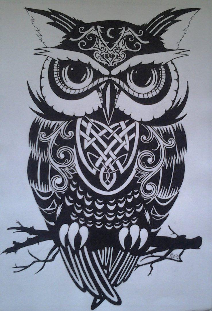 throwback night owl by kitty xx on deviantart celtic owl tattoo