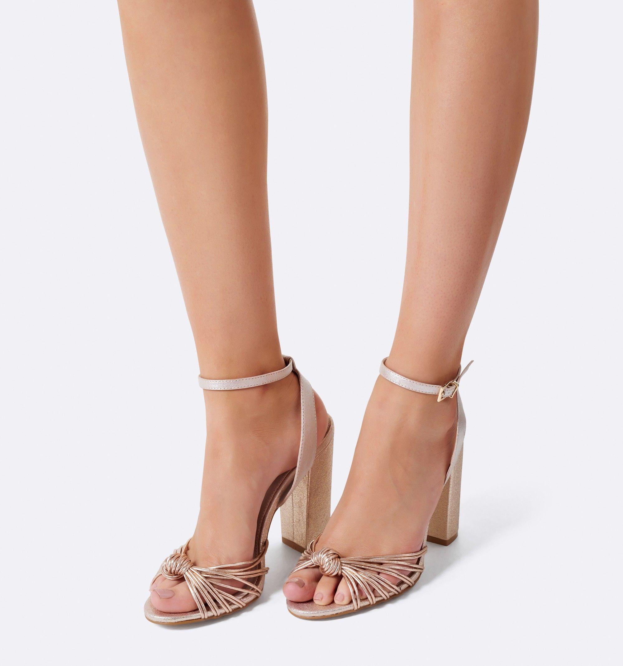 7d87d98ca06 Minnie Knot Vamp Heels Rose Gold - Womens Fashion