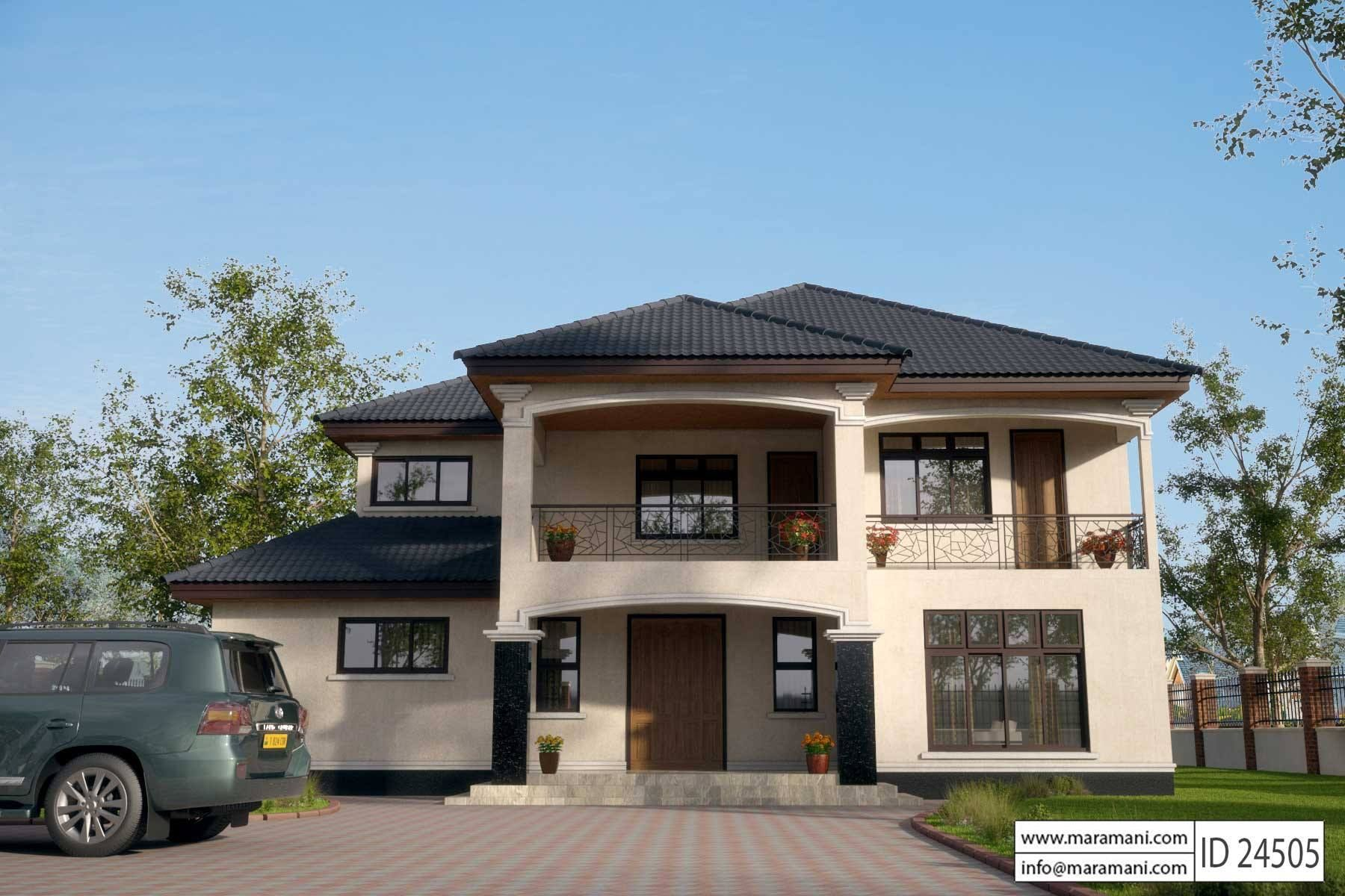 Contemporary House Style   ID 24505   House Designs By Maramani