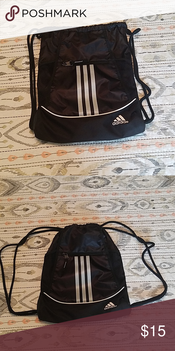 Adidas drawstring bag Adidas Black bag