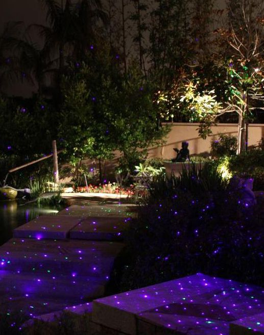 This Landscape Laser Projector Or Firefly Light Provides A Unique Approach To Landscape Lighting Backyard Lighting Landscape Lighting Diy Christmas Lights