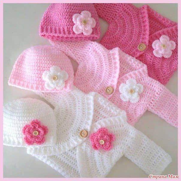 Patron chambritas para bebe a crochet gratis05 | vestidos para niña ...