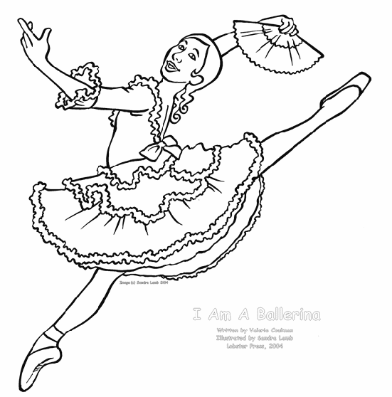 Ballerina Coloring Page 1 | Ballet Party | Pinterest ...