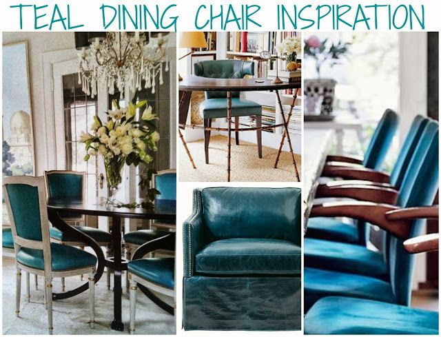 Rosa Beltran Design Blog Teal Turquoise Peacock Blue Dining