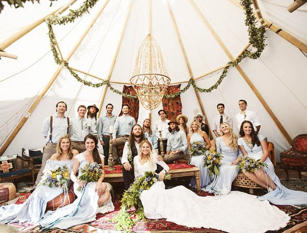 music festival inspired tipi tent wedding party - brides of adelaide & music festival inspired tipi tent wedding party - brides of ...