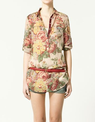 Long Floral Bouse -- Zara, $39.90