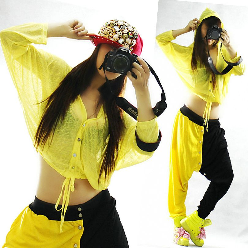 Aliexpress.com   Buy Loose jazz dance clothes ds costume hip hop candy neon  color hiphop with a hood top female 9960 from Reliable ancient chinese  clothing ... 67d10392aaf