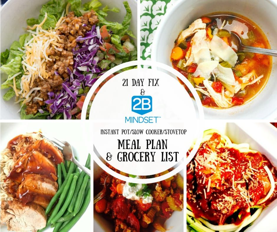Slow Cooker   2B Mindset Meal Plan  Confessions of a Fit Foodie is part of Meal plan grocery list - No need to heat up your oven for this 2B Mindset Meal Plan  just use your Instant Pot, Slow Cooker, or Stovetop!