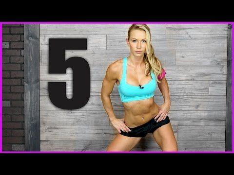5 Minute Workout 17 Legs Abs Cardio Zuzkalight Youtube Best Workouts In 5 Min Cardio Workout Fun Workouts