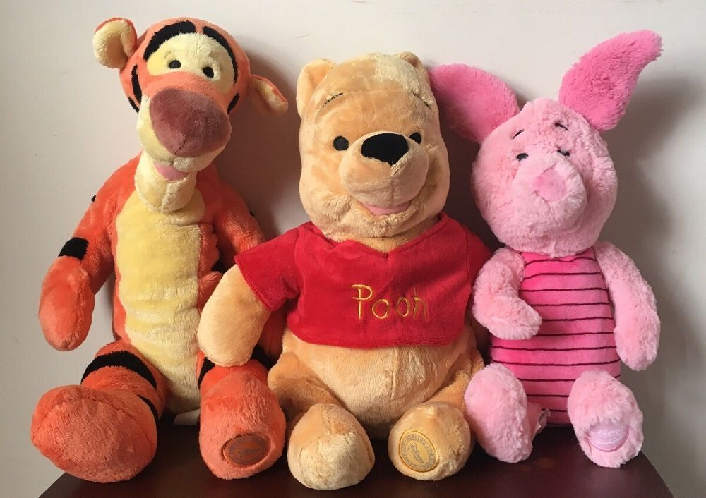 Winnie The Pooh Tigger Piglet Disney Store Seal Plush Lot 16
