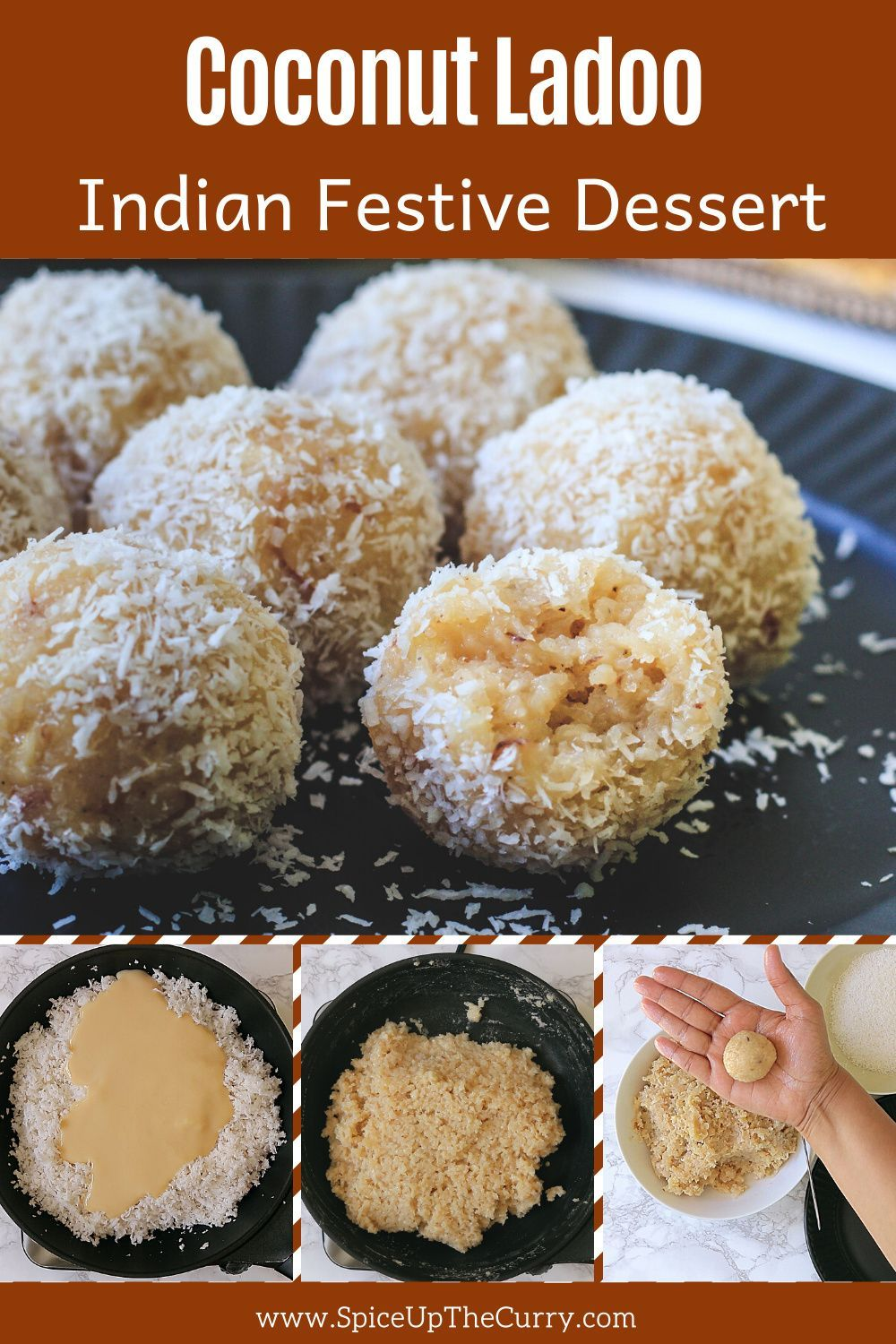 Coconut Ladoo Recipe With Condensed Milk Spice Up The Curry Recipe In 2020 Coconut Ladoo Recipe Condensed Milk Recipes Recipes