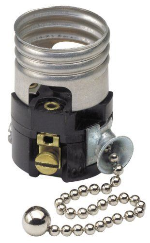 Leviton 19980 M Medium Base Interior Only Shell Incandescent Lampholder Pull Chain Single Circuit By Leviton 4 49 From The With Images Pull Chain Leviton Lamp Socket