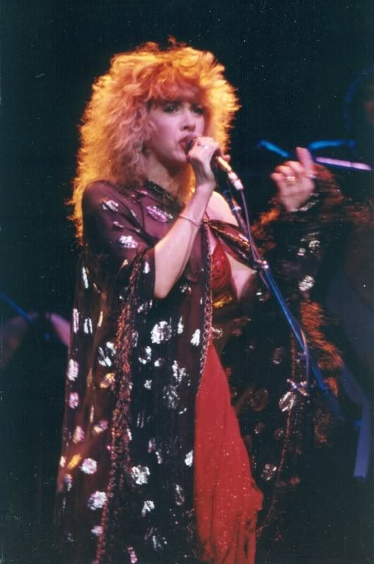 Wild Heart era Stevie Nicks in her iconic Stand Back shawl.
