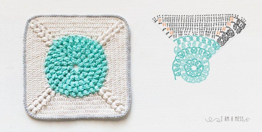 Mi primera colcha de ganchillo, y patrón de granny | Crochet and ...