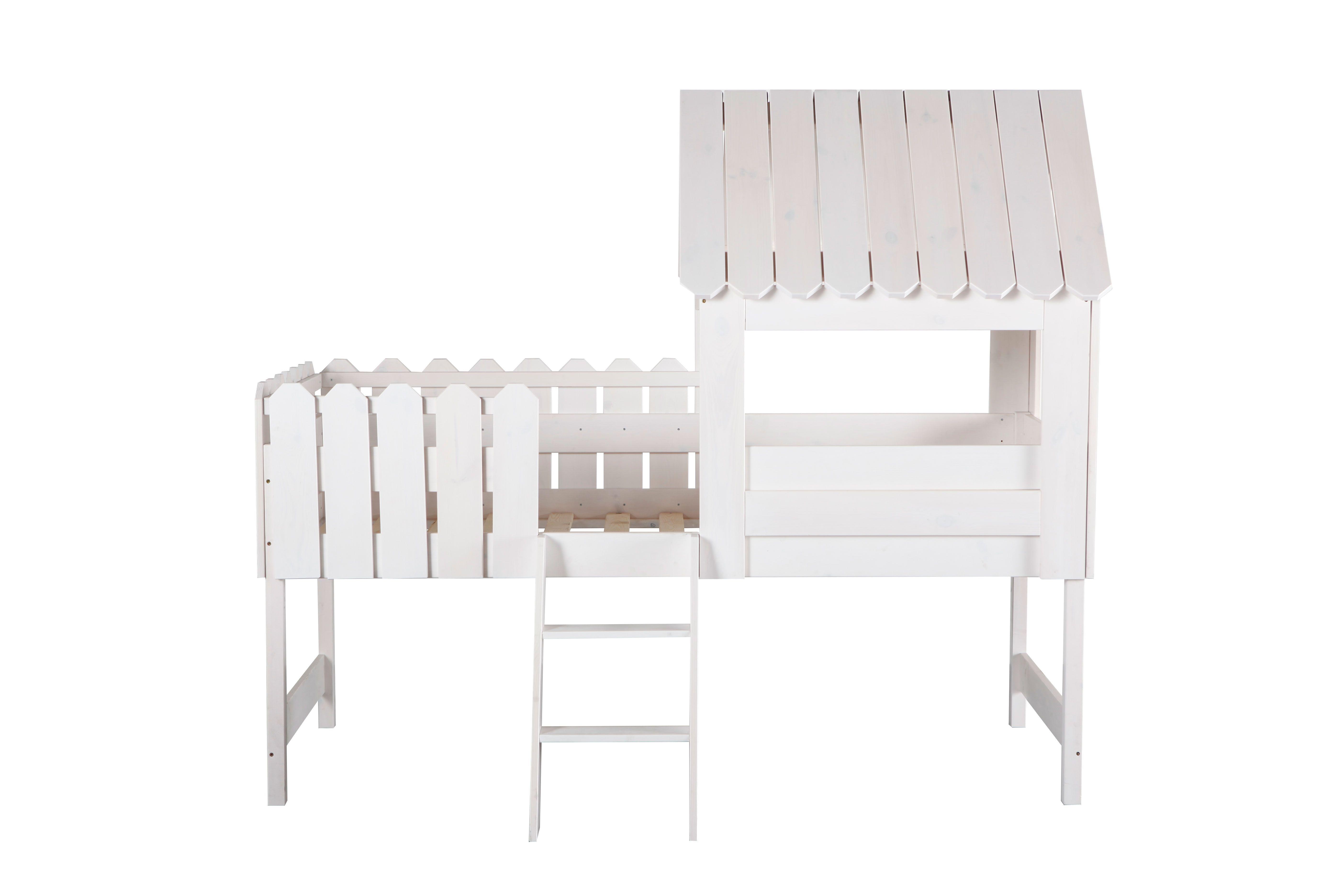Lit cabane enfant blanc LITTLE HOUSE Zoom kid s room