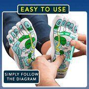 10+ English Acupressure Reflexology Socks With Massage Stick Set