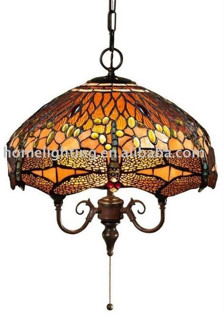 Source TFP 16402 Dragonfly Pendant Tiffany Style Hanging Ceiling Light FIxture Stained Glass 185 Shade On Malibaba