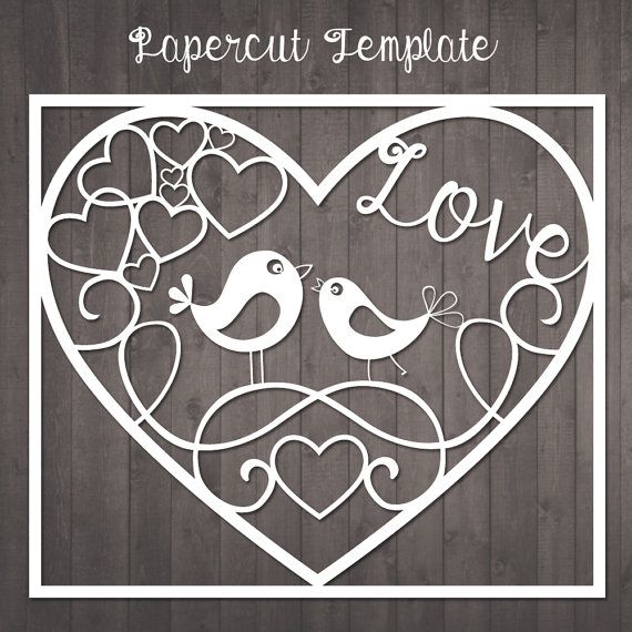 papercut template birds in love paper cut template to cut out