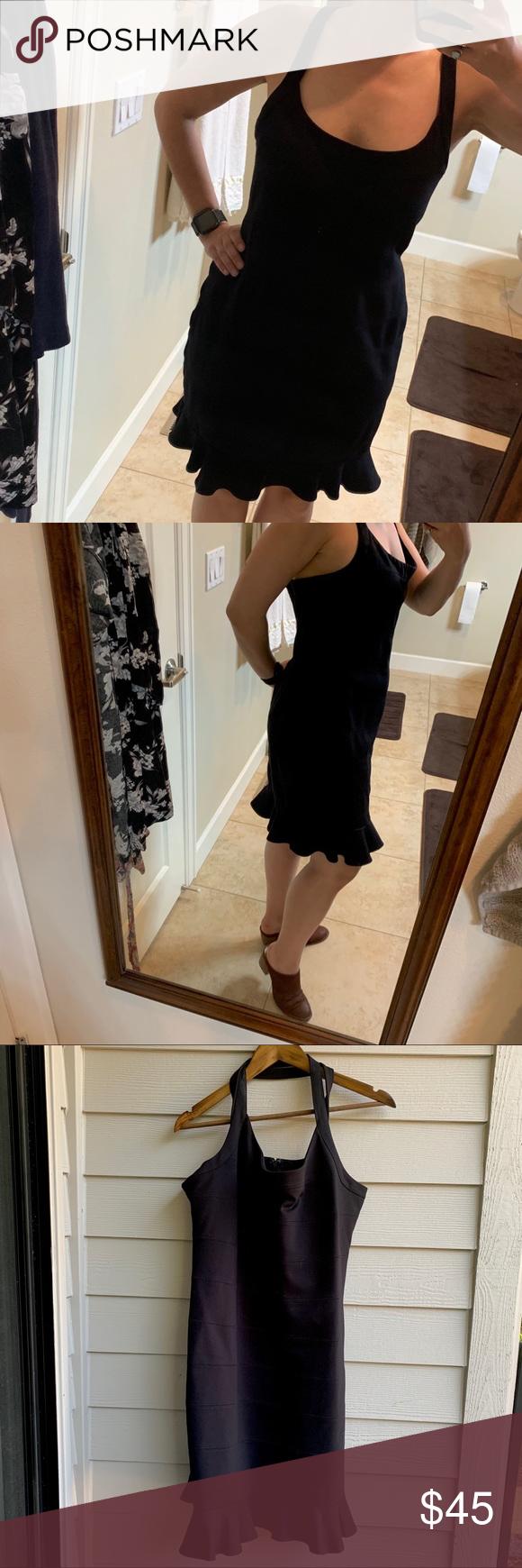 Nicole Miller Little Black Dress Xl Clothes Design Dresses Little Black Dress [ 1740 x 580 Pixel ]