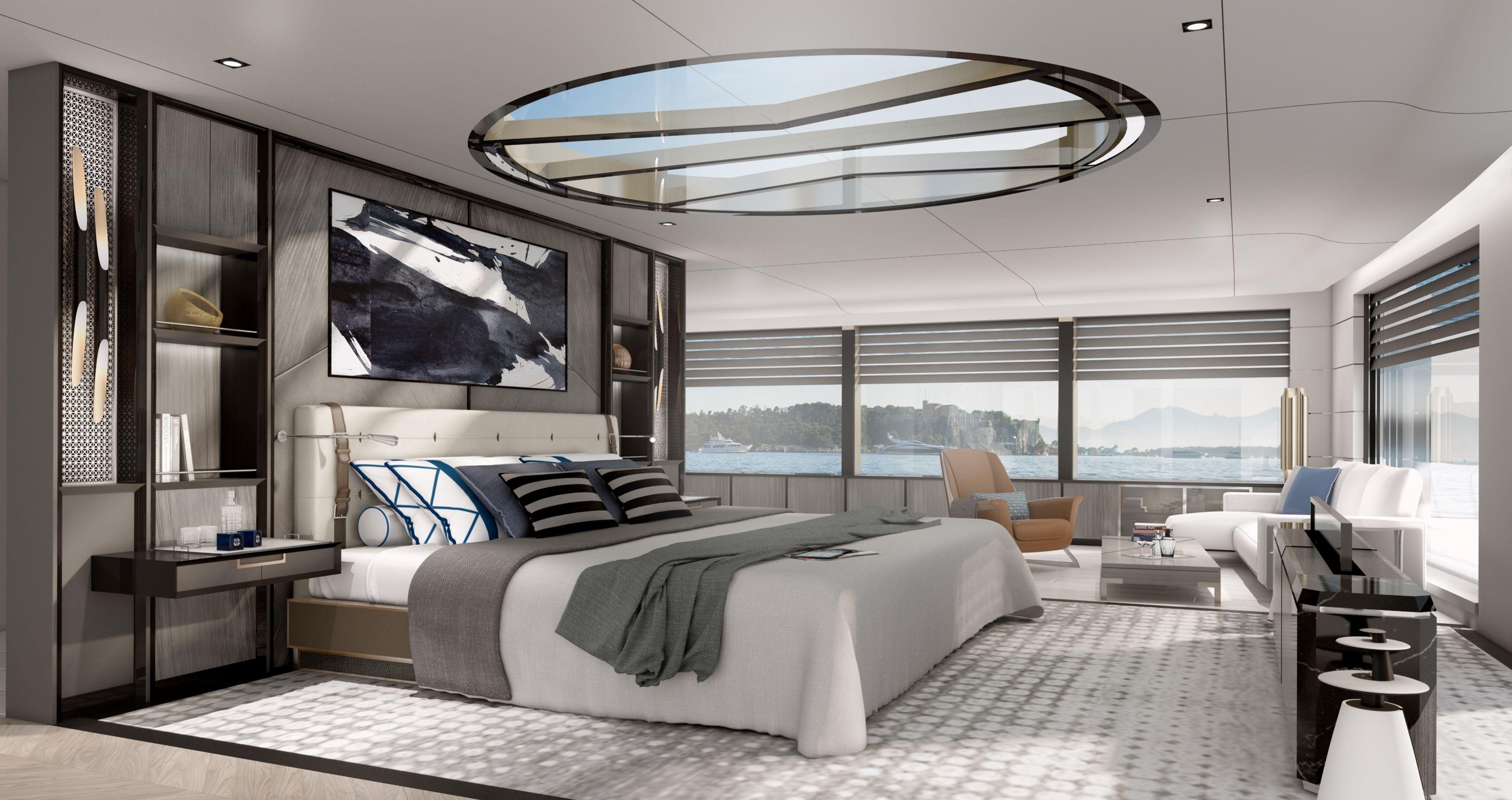 March & White Luxury Superyacht Design M Y Blue Luxury interior