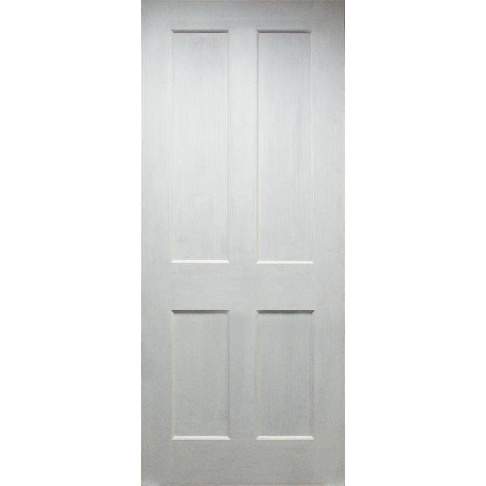 4 Panel White Interior Doors wooddoor+ internal primed white 4-panel shaker evolution door