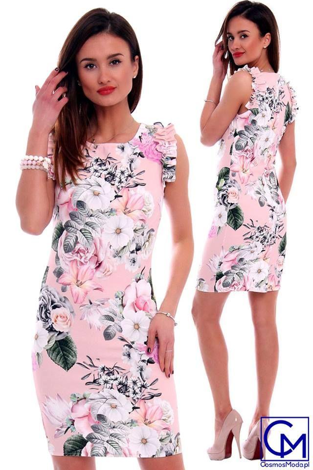Dluga Letnia Sukienka Ecru W Kwiaty Aw219 Fashion Dresses Formal Dresses