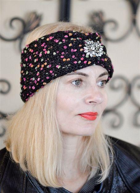 Womens headbands - knit headbands - designer headbands - knit designer  headband 7de43a6a247