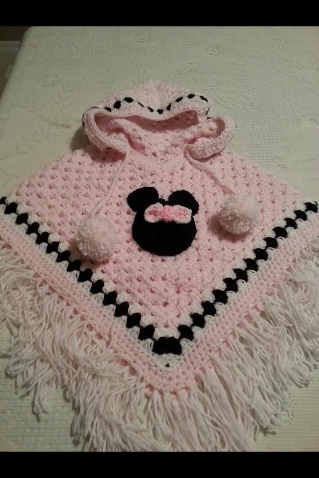 minnie mouse poncho | Patrones De Ganchillo | Pinterest | Ponchos ...