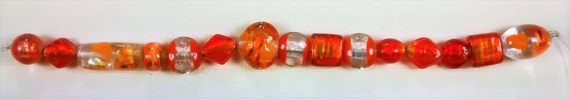 BF-194 Shades of Orange Lampworked Beads by Banglebops on Etsy