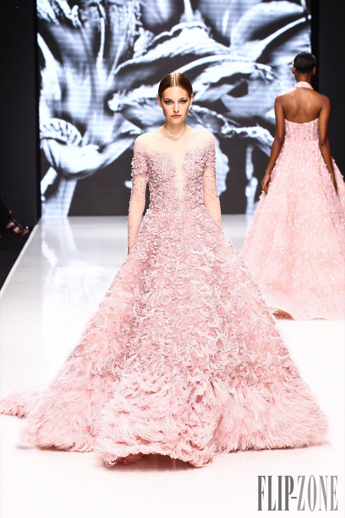 51ae9c50f6 Pink snowflakes - 19 pink Haute Couture gowns this Winter