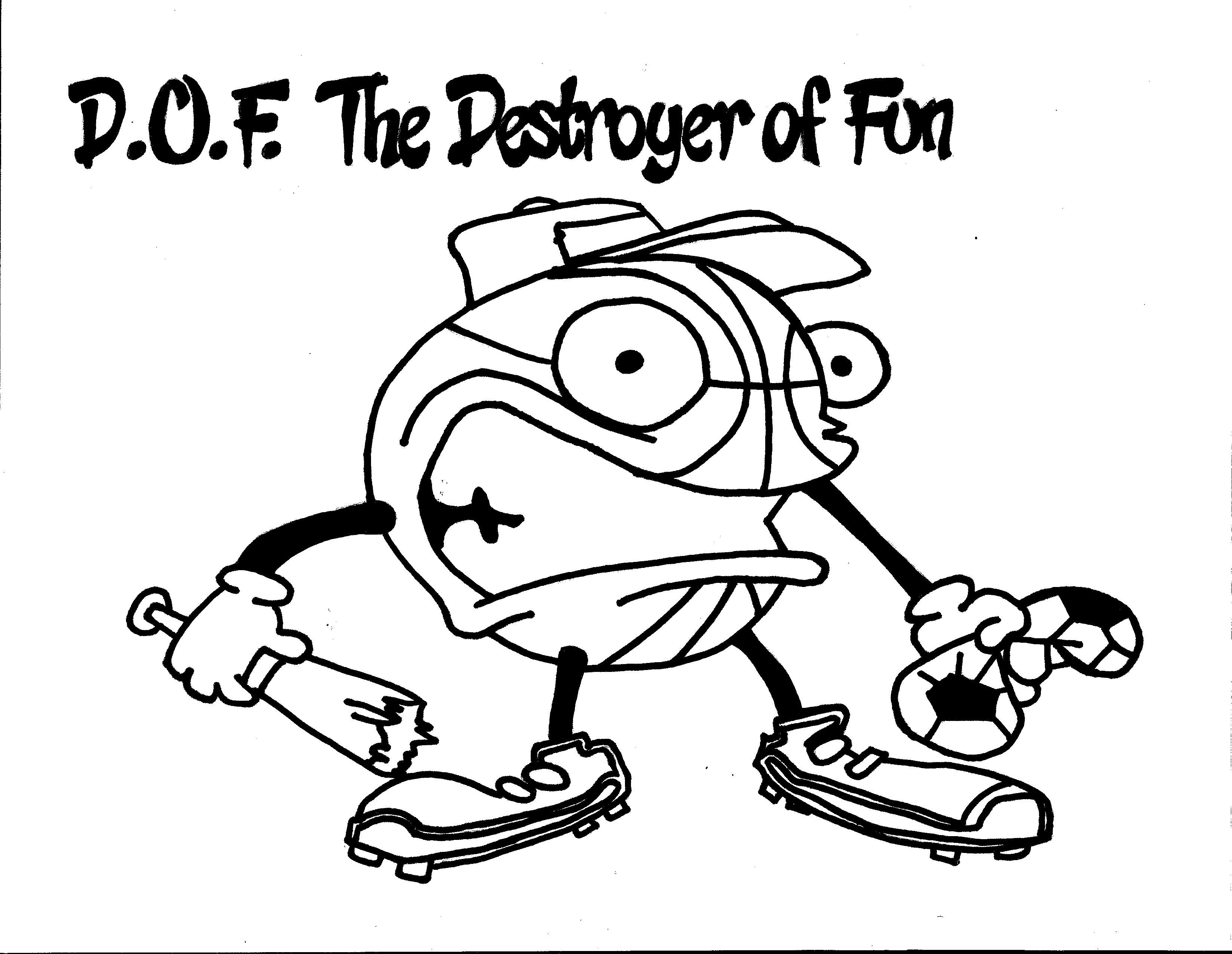 D O F The Destroyer Of Fun Coloring Page Team