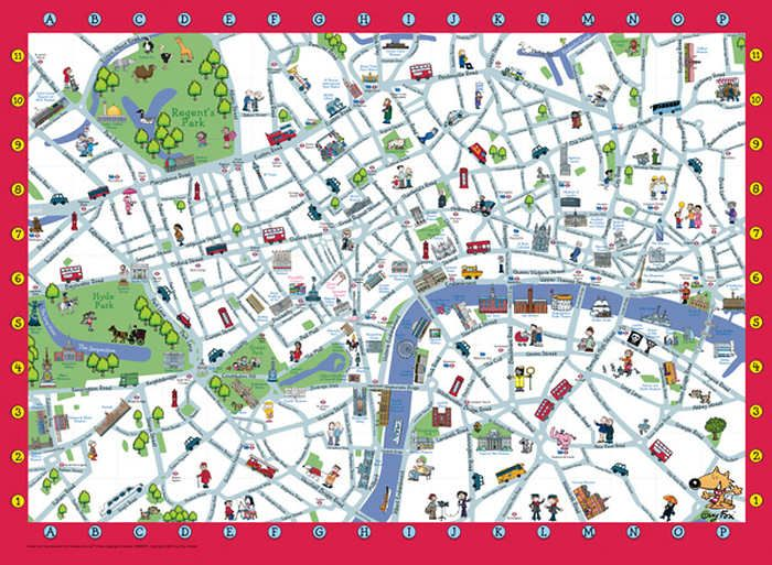 london childrens map xxl 100 includes information leaflet