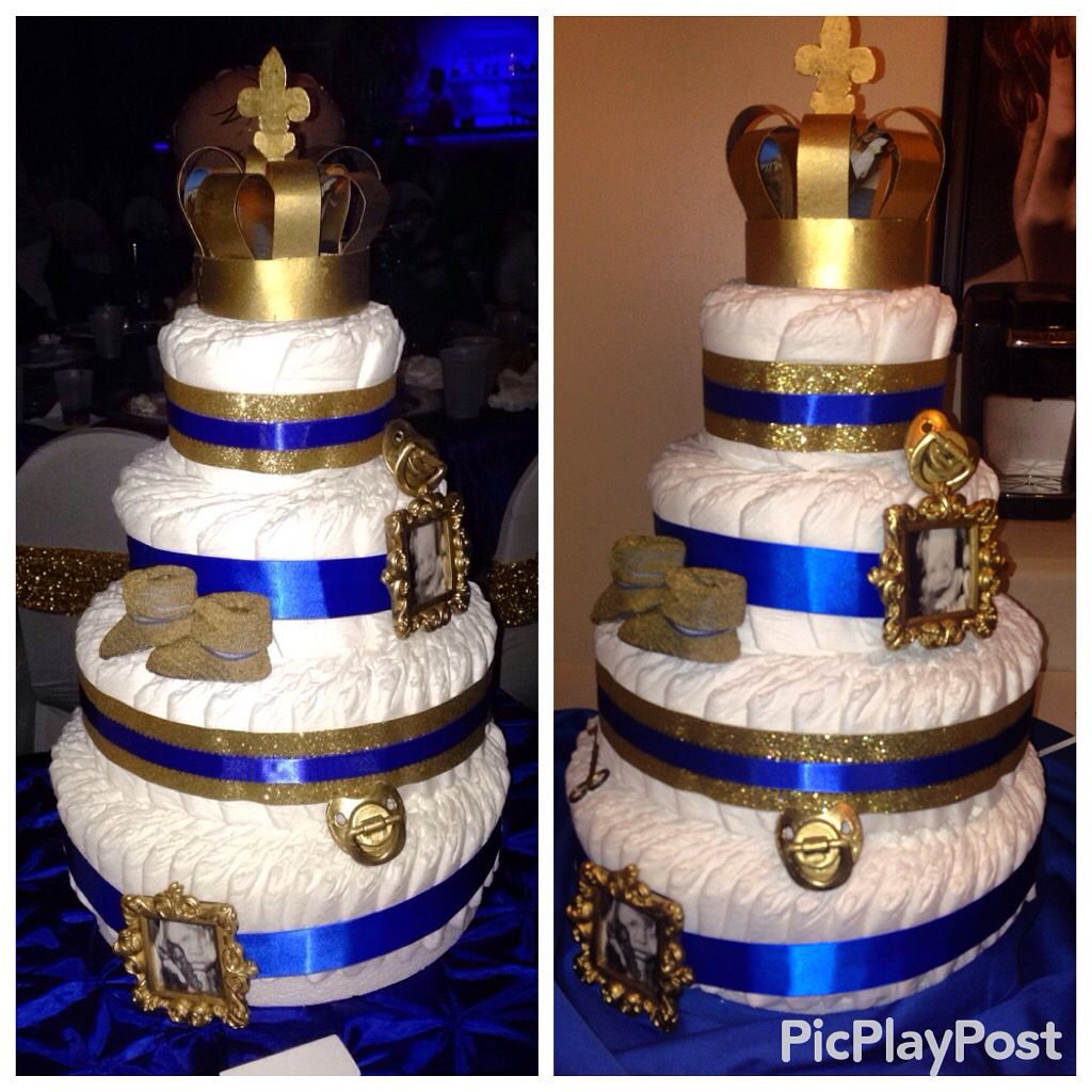 Royal Kings Diaper Cake I Made For A Friends Baby Shower