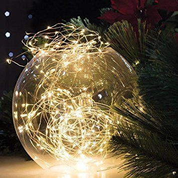 Dew Drop LED light string Battery Operated (Warm White, 66\u0027 long