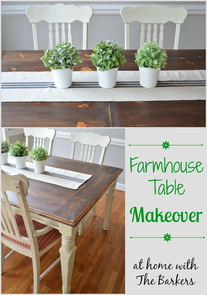 homedecor simple #homedecor Farmhouse Table Makeover Dark Stain #farmhouse #homedecor