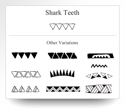 Variations Of The Shark Teeth Symbol As Depicted On Atelier Leseine