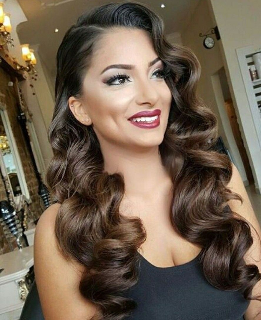 Wedding Waves In 2019 Vintage Hairstyles For Long Hair