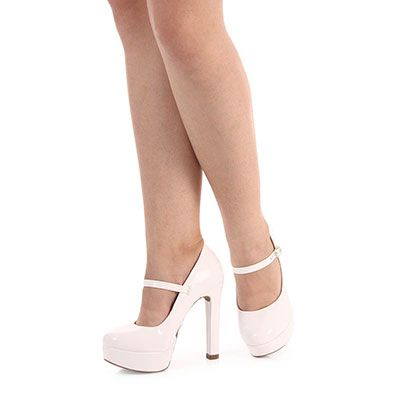 867e329c5 Sapato Boneca Salto Feminino Lara - Branco   sapatos   Shoes, Heels ...