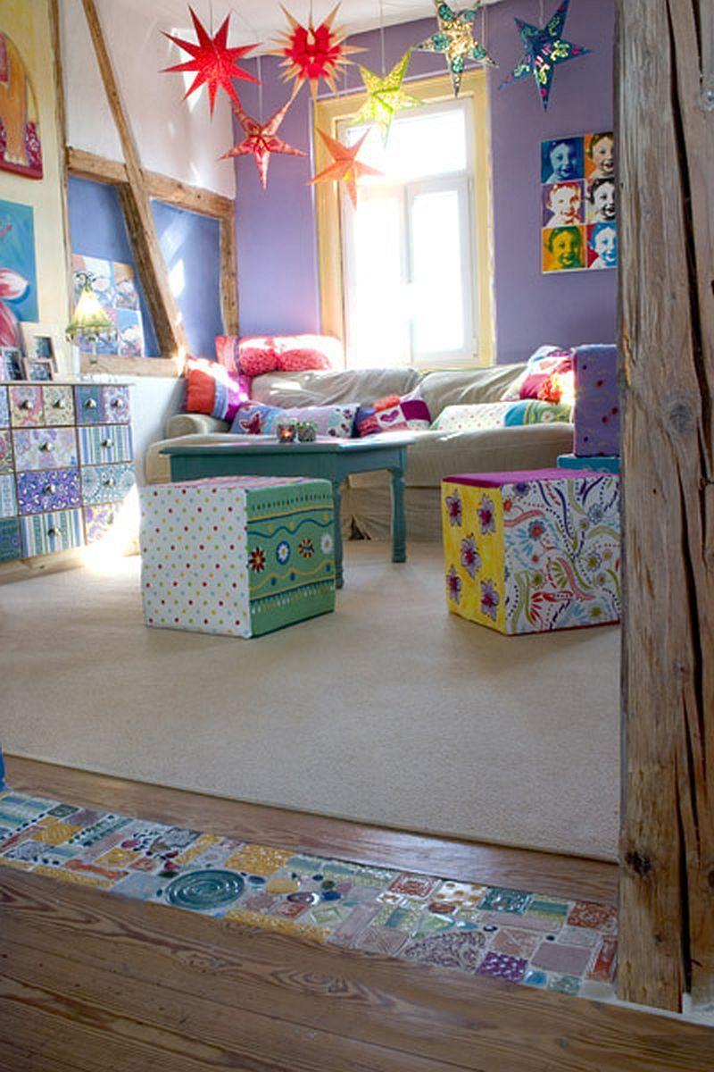 tolle Mosaik zwischen Laminat und Teppich?
