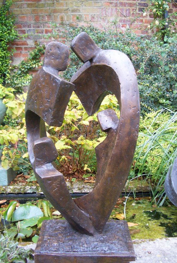 Elegant Bronze Resin Garden Or Yard / Outside And Outdoor Sculpture By Artist John  Brown Titled: