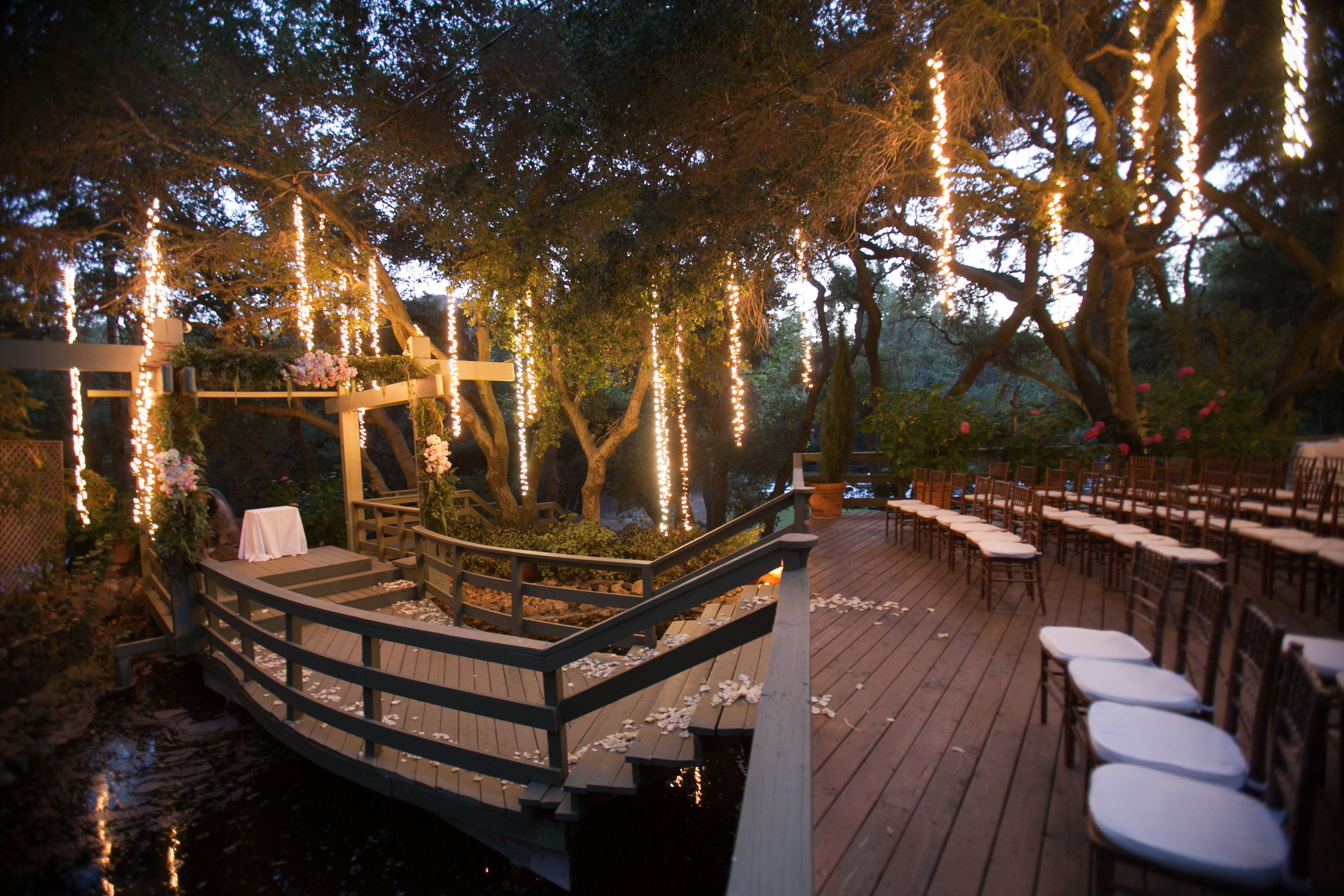 The Oaks ceremony site at Calamigos Ranch in Malibu. The